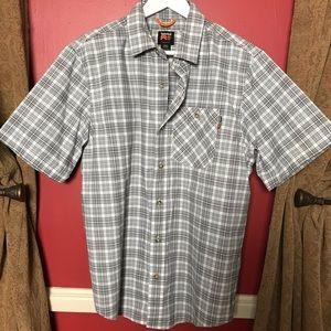 Timberland Pro men's grey plaid button Down Shirt